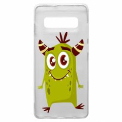 Чохол для Samsung S10+ Cute green monster