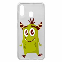 Чохол для Samsung A30 Cute green monster