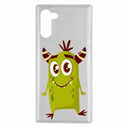 Чохол для Samsung Note 10 Cute green monster