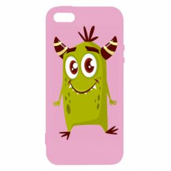 Чохол для iphone 5/5S/SE Cute green monster