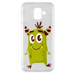 Чохол для Samsung A6 2018 Cute green monster
