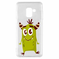 Чохол для Samsung A8 2018 Cute green monster