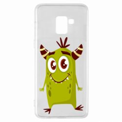 Чохол для Samsung A8+ 2018 Cute green monster