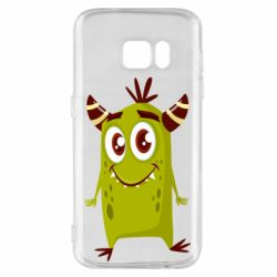 Чохол для Samsung S7 Cute green monster