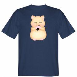 Чоловіча футболка Cute hamster with sunflower seed