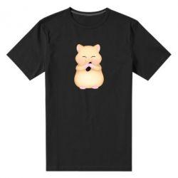 Чоловіча стрейчева футболка Cute hamster with sunflower seed