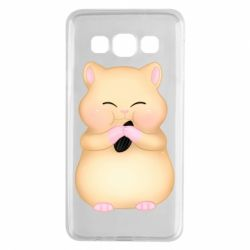 Чохол для Samsung A3 2015 Cute hamster with sunflower seed