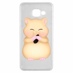 Чохол для Samsung A3 2016 Cute hamster with sunflower seed