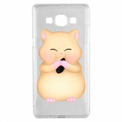 Чохол для Samsung A5 2015 Cute hamster with sunflower seed