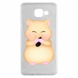 Чохол для Samsung A5 2016 Cute hamster with sunflower seed