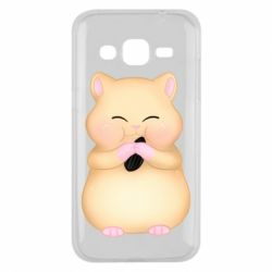 Чохол для Samsung J2 2015 Cute hamster with sunflower seed