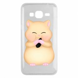 Чохол для Samsung J3 2016 Cute hamster with sunflower seed