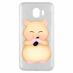 Чохол для Samsung J4 Cute hamster with sunflower seed