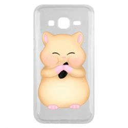 Чохол для Samsung J5 2015 Cute hamster with sunflower seed