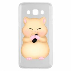 Чохол для Samsung J5 2016 Cute hamster with sunflower seed