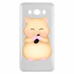 Чохол для Samsung J7 2016 Cute hamster with sunflower seed