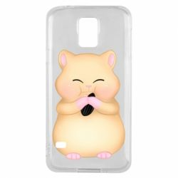 Чохол для Samsung S5 Cute hamster with sunflower seed