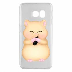Чохол для Samsung S6 EDGE Cute hamster with sunflower seed