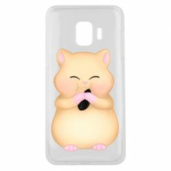 Чохол для Samsung J2 Core Cute hamster with sunflower seed