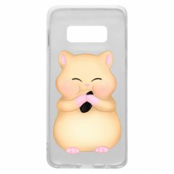 Чохол для Samsung S10e Cute hamster with sunflower seed