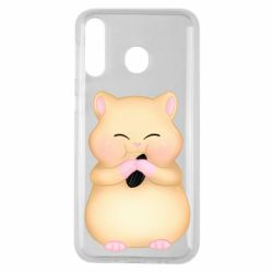 Чохол для Samsung M30 Cute hamster with sunflower seed
