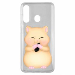 Чохол для Samsung M40 Cute hamster with sunflower seed