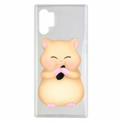Чохол для Samsung Note 10 Plus Cute hamster with sunflower seed