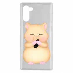 Чохол для Samsung Note 10 Cute hamster with sunflower seed