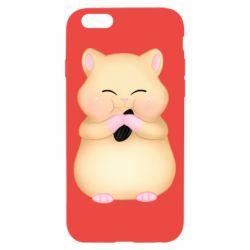 Чохол для iPhone 6/6S Cute hamster with sunflower seed
