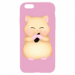 Чохол для iPhone 6 Plus/6S Plus Cute hamster with sunflower seed