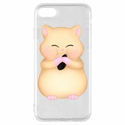 Чохол для iPhone 7 Cute hamster with sunflower seed
