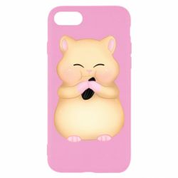Чохол для iPhone 8 Cute hamster with sunflower seed