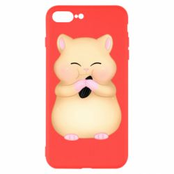 Чохол для iPhone 8 Plus Cute hamster with sunflower seed