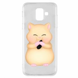 Чохол для Samsung A6 2018 Cute hamster with sunflower seed