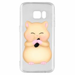 Чохол для Samsung S7 Cute hamster with sunflower seed