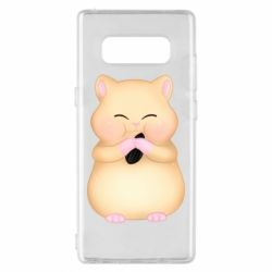 Чохол для Samsung Note 8 Cute hamster with sunflower seed