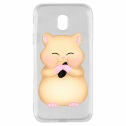 Чохол для Samsung J3 2017 Cute hamster with sunflower seed