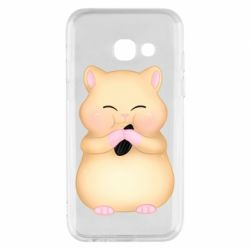 Чохол для Samsung A3 2017 Cute hamster with sunflower seed