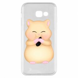 Чохол для Samsung A5 2017 Cute hamster with sunflower seed