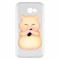 Чохол для Samsung A7 2017 Cute hamster with sunflower seed