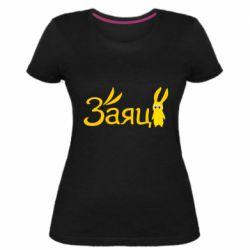 Жіноча стрейчева футболка Cute hare