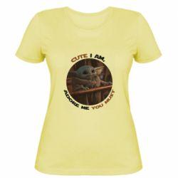 Женская футболка Cute i am, adore me you must