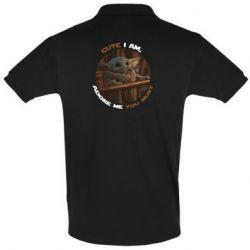 Мужская футболка поло Cute i am, adore me you must