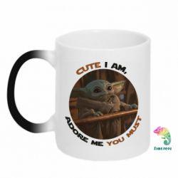 Кружка-хамелеон Cute i am, adore me you must