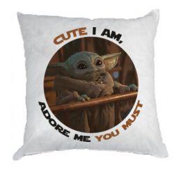 Подушка Cute i am, adore me you must