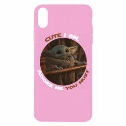 Чехол для iPhone X/Xs Cute i am, adore me you must