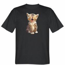 Чоловіча футболка Cute kitten vector