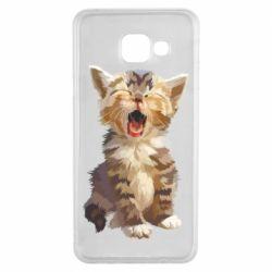 Чохол для Samsung A3 2016 Cute kitten vector