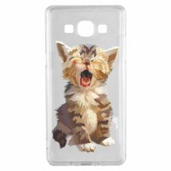 Чохол для Samsung A5 2015 Cute kitten vector