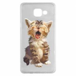 Чохол для Samsung A5 2016 Cute kitten vector